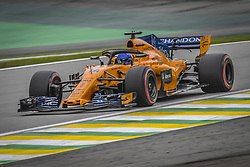 November 10, 2018 - Sao Paulo, Brazil - 14 ALONSO Fernando (spa), McLaren Renault MCL33, action during the 2018 Formula One World Championship, Brazil Grand Prix from November 08 to 11 in Sao Paulo, Brazil -  FIA Formula One World Championship 2018, Grand Prix of Brazil World Championship;2018;Grand Prix;Brazil  (Credit Image: © Hoch Zwei via ZUMA Wire)