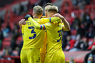 GOAL 1-1, AFC Wimbledon striker Joe Pigott (39) during the EFL Sky Bet League 1 match between Charlton Athletic and AFC Wimbledon at The Valley, London, England on 12 December 2020.