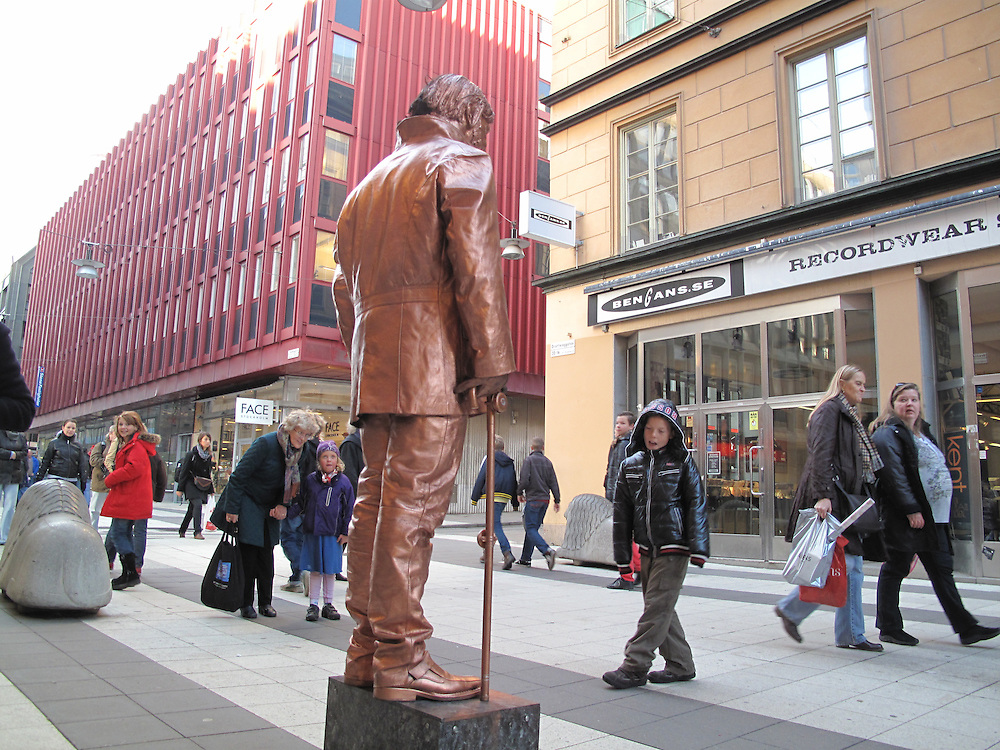 Levande staty på Drottninggatan