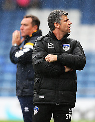 Oldham Athletic manager Stephen Robinson and Shrewsbury Town manager Micky Mellon  - Mandatory by-line: Matt McNulty/JMP - 03/09/2016 - FOOTBALL - Sportsdirect.com Park - Oldham, England - Oldham Athletic v Shrewsbury Town - Sky Bet League One