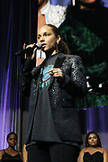 NEW YORK, NEW YORK- FEBRUARY 11: Alicia Keys attends the National CARES Mentoring Movement 'FOR THE LOVE OF OUR CHILDREN' Gala Inside held at the Zeigfeld Ballroom on February 11, 2019 in New York City.  (Photo by Terrence Jennings/terrencejennings.com)