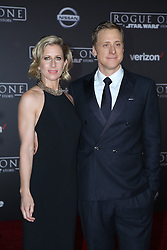 Celebrity arrivals at the world premiere of Walt Disney Pictures and Lucasfilm's 'Rogue One: A Star Wars Story' at the Pantages Theatre in Hollywood, California. 11 Dec 2016 Pictured: Alan Tudyk, Charissa Barton. Photo credit: @parisamichelle / MEGA TheMegaAgency.com +1 888 505 6342