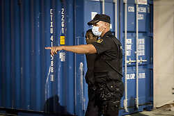 May 25, 2019 - Malaga, Spain - A male migrant is being transferred to a center in Malaga, in Malaga, Spain, on May 25, 2019. (Credit Image: © Guillaume Pinon/NurPhoto via ZUMA Press)