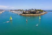 Aerial of Sailing Lessons in Dana Cove