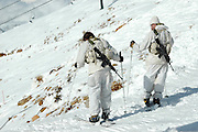 Israel, Hermon Mountain Israeli Soldiers on patrol