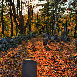 The Old Burying Ground in Jaffrey Center, New Hampshire.