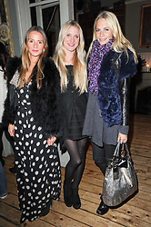 Left to right, AMANDA CROSSLEY, WILLOW CORBETT-WINDER and POPPY DELEVINGNE at a party to celebrate the 1st anniversary of Alice Temperley's label held at Paradise, Kensal Green, London W10 on 25th November 2010.