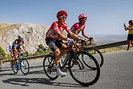Michal Kwiatkowski (POL - Team Sky) red jersey, during the UCI World Tour, Tour of Spain (Vuelta) 2018, Stage 4, Velez Malaga - Alfacar Sierra de la Alfaguara 161,4 km in Spain, on August 28th, 2018 - Photo Luca Bettini / BettiniPhoto / ProSportsImages / DPPI