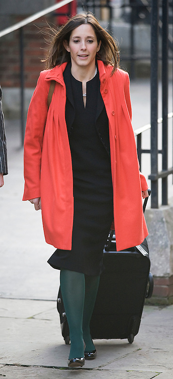 © London News Pictures. FILE PICTURE DATED  23/11/2011. London, UK.  Leveson Inquiry Lawyer, Carine Patry Hoskins who is reported to be in a relationship with David Sherborne, counsel for victims of phone hacking. Pictured arriving at the Royal Courts of Justice for the Leveson Inquiry on 23/11/2011. Photo credit : Ben Cawthra/LNP