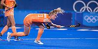 TOKIO - Caia Van Maasakker (NED) neemt de strafcorner  tijdens de wedstrijd dames , Nederland-India (5-1) tijdens de Olympische Spelen   .   COPYRIGHT KOEN SUYK