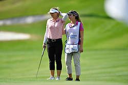 January 19, 2019 - Lake Buena Vista, FL, U.S. - LAKE BUENA VISTA, FL - JANUARY 19: Brooke M. Henderson of Canada gets help from her caddie during the third round of the Diamond Resorts Tournament of Champions on January 19, 2019, at Tranquilo Golf Course at Fours Seasons Orlando in Lake Buena Vista, FL. (Photo by Roy K. Miller/Icon Sportswire) (Credit Image: © Roy K. Miller/Icon SMI via ZUMA Press)