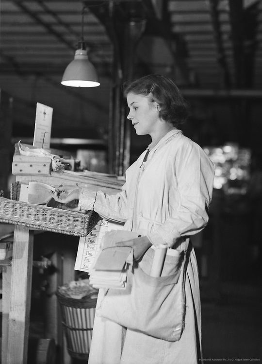 Worker Delivering Mail, Peek Frean Biscuit Company, England, circa 1932