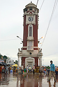 India, Uttarakhand, Haridwar The Clock tower at Har-ki-Pauri