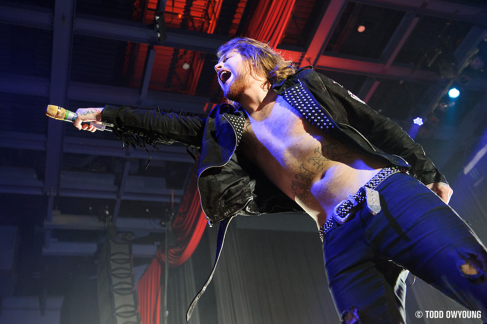 British heavy metal band Asking Alexandria performing on their 2012 world tour at the Pageant in St. Louis on November 11, 2012.