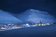 All settlements further north of Longyearbyen are research or meteorological outposts.<br /> The northernmost church in the world (seen on the right) is open 24 hours to anyone and of any religion. The city of Longyearbyen, located at 78° North, is also a home to northernmost school, university, supermarket, a man's chorus and many more.