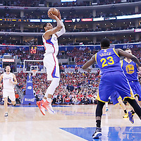 21 April 2014: Los Angeles Clippers forward Danny Granger (33) takes a jump shot during the Los Angeles Clippers 138-98 victory over the Golden State Warriors, during Game Two of the Western Conference Quarterfinals of the NBA Playoffs, at the Staples Center, Los Angeles, California, USA.