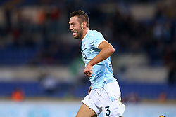 September 20, 2017 - Rome, Italy - Stefan de Vrij of Lazio celebrating after the goal scored  during the Serie A match between SS Lazio and SSC Napoli at Stadio Olimpico on September 20, 2017 in Rome, Italy. (Credit Image: © Matteo Ciambelli/NurPhoto via ZUMA Press)