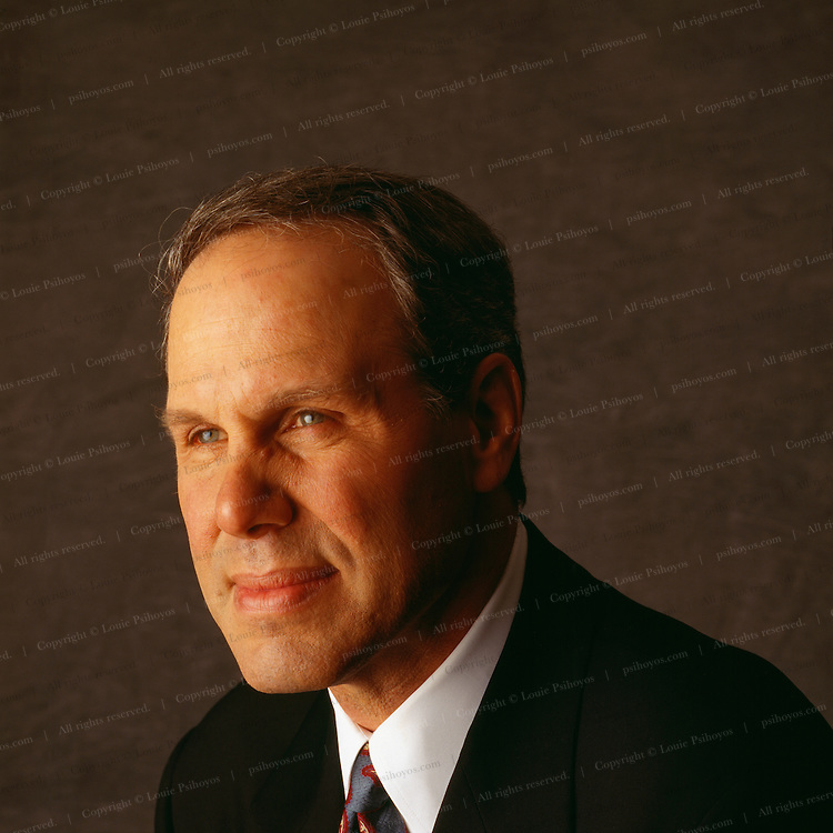 Michael Eisner, CEO of The Walt Disney Company one of the world's largest entertainment companies photographed at the company's headquarters building in Burbank, California