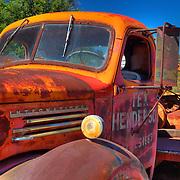Rusted Vintage Tex Henderson International Truck - Motor Transport Museum - Campo, CA