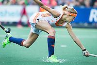 AMSTERDAM - Hockey - Carlien Dirkse van den Heuvel (Neth)   Interland tussen de vrouwen van Nederland en Groot-Brittannië, in de Rabo Super Serie 2016 .  COPYRIGHT KOEN SUYK