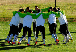 Branko Ilic and other players of Slovenia during a training session at  Hyde Park High School Stadium on June 16, 2010 in Johannesburg, South Africa.  (Photo by Vid Ponikvar / Sportida)