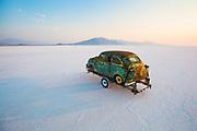 Image of a hot rod racecar at the Bonneville Salt Flats, Utah, American Southwest by Randy Wells