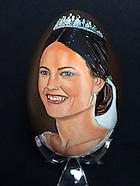 Hand painted Royal eggs by Mrs. Tiety Entjes-Weij, Wassenaar 15-03-2016