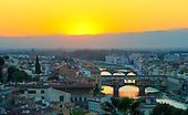 Florence, Italy featuring the Duomo and Ponte Veccio