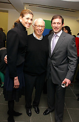 Left to right, Andrea Olshan, Ellsworth Kelly & Glenn R. Fuhrman at an exhibition of leading artist Ellsworth Kelly at the Serpentine Gallery, Kensington Gardens, London followed by a dinner at the Riverside Cafe, London on 17th March 2006.<br /><br />NON EXCLUSIVE - WORLD RIGHTS