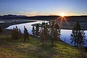 Sunrise over the Yellowstone River, Yellowstone National Park.