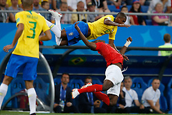 June 17, 2018 - Rostov Do Don, Rússia - ROSTOV DO DON, RO - 17.06.2018: BRAZIL VS SWITZERLAND - Fernandinho do Brasil dispute with Valon Behrami of Switzerland during a match between Brazil and Switzerland valid for the first round of group E of the 2018 World Cup, held at the Rostov Arena in Rostov on Don, Russia. (Credit Image: © Marcelo Machado De Melo/Fotoarena via ZUMA Press)