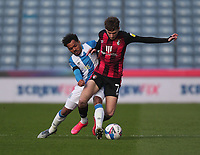 Huddersfield Town's Duane Holmes in action with  Bournemouth's David Brooks<br /> <br /> Photographer Mick Walker/CameraSport<br /> <br /> The EFL Sky Bet Championship - Huddersfield Town v Bournemouth - Tuesday 13 April 2021 - The John Smith's Stadium - Huddersfield<br /> <br /> World Copyright © 2020 CameraSport. All rights reserved. 43 Linden Ave. Countesthorpe. Leicester. England. LE8 5PG - Tel: +44 (0) 116 277 4147 - admin@camerasport.com - www.camerasport.com