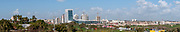 Panoramic view of Rishon LeZion, Israel as seen from South
