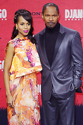 Kerry Washington with Jamie Foxx during the Django Unchained Berlin Premiere, Cinestar Sony Center, Berlin, Germany, January 8, 2013. Photo by Imago / i-Images...UK ONLY