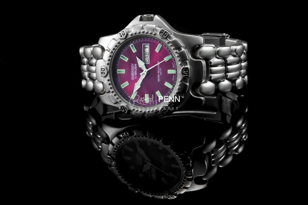 Silver band watch, Bahamas Product Photography
