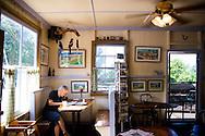 Grandma's Coffee House, popular with locals and tourists alike, in Keokea, Maui, Hawaii has been roasting it's own coffee since 1918.
