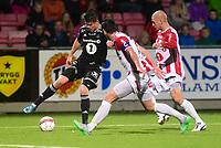 Fotball , 30. august 2015 ,   Eliteserien , Tippeligaen <br /> Tromsø - Rosenborg<br /> Pål Andre Helland  , RBK<br /> Zdenek Ondrasek , TIL<br /> Sim ne Wangberg , TIL