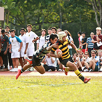 National B Div Rugby Final: ACS(I) (pic) held off a rampaging St Andrew's to defend their title with an extra time, sudden death try to win 17-12. Leading 12-0, ACS(I) saw their lead evaporate in the last 10 minutes of the second half as Saints came back to tie it 12-12 to force extra time.