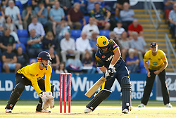 Glamorgan's Chris Cooke<br /> <br /> Photographer Simon King/Replay Images<br /> <br /> Vitality Blast T20 - Round 8 - Glamorgan v Gloucestershire - Friday 3rd August 2018 - Sophia Gardens - Cardiff<br /> <br /> World Copyright © Replay Images . All rights reserved. info@replayimages.co.uk - http://replayimages.co.uk