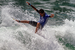 """HUNTINGTON BEACH, CA - In an all-Brazilian final, Filipe Toledo (BRA)and Willian Cardoso (BRA) wrote history for their country in the sands of Huntington Beach, USA. They final scores were: Filipe Toledo (BRA), 17.56 def. Willian Cardoso (BRA), 12.80. """"I'm super stoked and excited, still shaking. I started really good. I just turned my game to the air game so I could do what I love to do and it worked. I had to surf though a lot of pain with my ankle, and just put it out of my mind,"""" expressed Filipe Toledo. 2014 Aug 3.  Byline, credit, TV usage, web usage or linkback must read SILVEXPHOTO.COM. Failure to byline correctly will incur double the agreed fee. Tel: +1 714 504 6870."""