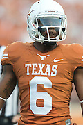 AUSTIN, TX - AUGUST 31: Quandre Diggs #6 of the Texas Longhorns looks on against the New Mexico State Aggies on August 31, 2013 at Darrell K Royal-Texas Memorial Stadium in Austin, Texas.  (Photo by Cooper Neill/Getty Images) *** Local Caption *** Quandre Diggs