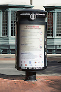 Ebola informational kiosks in downtown Dallas, Texas on November 7, 2014.  (Cooper Neill for The New York Times)
