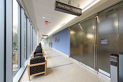 Yale-New Haven Health Park Avenue Medical Center. Architect: Shepley Bulfinch. Contractor: Gilbane Building Company, Glastonbury, CT. James R Anderson Photography, New Haven CT photog.com. Date of Photograph 4 May 2016  Submission 25  © James R Anderson. First Floor West Side Hall and Waiting Area
