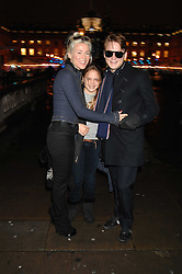 DAPHNE GUINNESS and her children ALEXIS NIARCHOS and NICOLAS NIARCHOS at a Winter Party to celebrate the opening of the Ice Rink at Somerset House, London in association with jewellers Tiffany on 20th November 2007.<br />