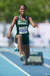 August 12, 2018 - Toronto, ON, U.S. - TORONTO, ON - AUGUST 12: Thea Noeliva Lafond (Dominica), bronze in the triple jump at the 2018 North America, Central America, and Caribbean Athletics Association (NACAC) Track and Field Championships on August 12, 2018 held at Varsity Stadium, Toronto, Canada. (Photo by Sean Burges / Icon Sportswire) (Credit Image: © Sean Burges/Icon SMI via ZUMA Press)
