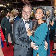 NLD/Amsterdam/20171012 - Televizier-ring Gala 2017, zwangere Airen Mylène en partner Taeke Taekema