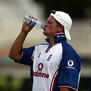 Robert Key takes a drink