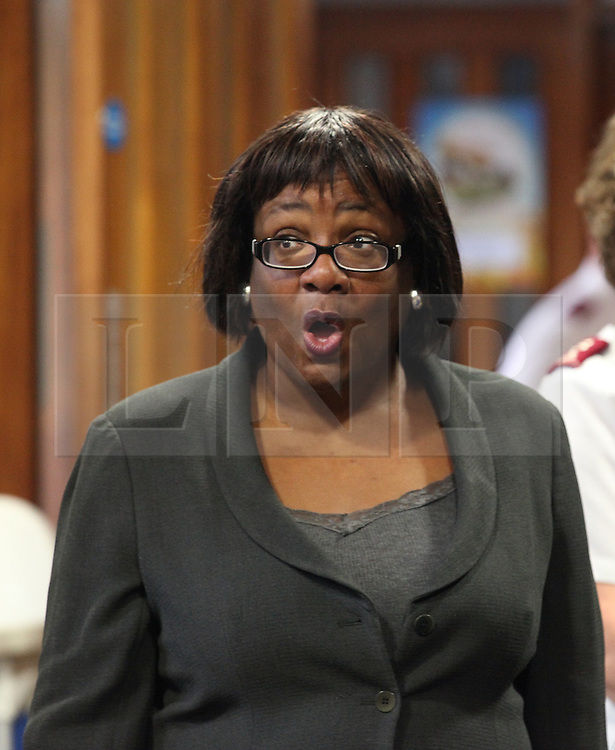 © Licensed to London News Pictures . FILED PICTURE DATED 26/09/2012. DIANE ABBOTT in a visit to the Salvation Army site in Lower Clapton Road, Hackney. It has been recently announced that she has been sacked as Shadow Health Minister by Ed Miliband. (09/10/2013) . Photo credit : /LNP