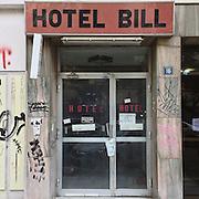 An abandoned hotel in Episkopou Amvrosiou Str, Thessaloniki