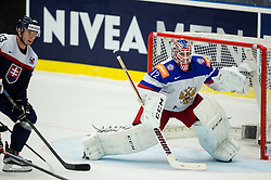 Sergei Bobrovski of Russia during Ice Hockey match between Slovakia and Russia at Day 10 in Group B of 2015 IIHF World Championship, on May 10, 2015 in CEZ Arena, Ostrava, Czech Republic. Photo by Vid Ponikvar / Sportida